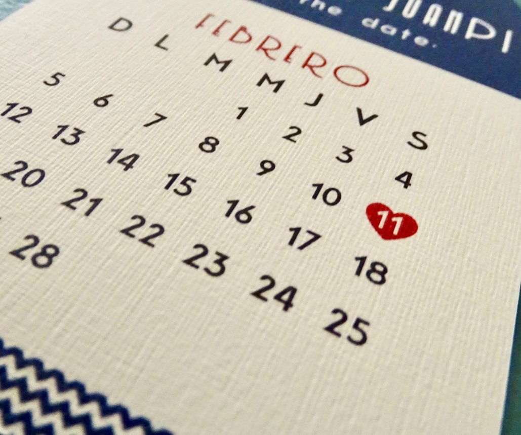 Save the Date Viaggio - Modelo Tramado