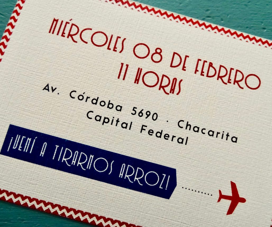 Serie Viaggio boda boarding pass civil rojo